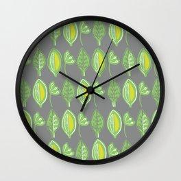 Leaves2 Wall Clock