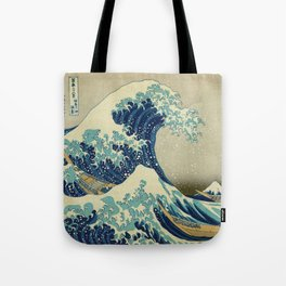 The Great Wave Off Kanagawa by Katsushika Hokusai (c. 1830) Tote Bag