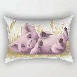 Farm yard Pig Rectangular Pillow