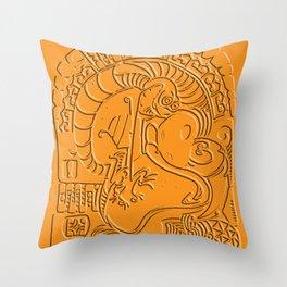 Ren And Stimpy Polynesian tribal Throw Pillow
