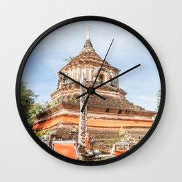 The Chedi of Wat Lok Molee, Chiang Mai, Thailand Wall Clock