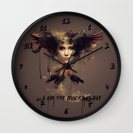 I am the Mockingjay Wall Clock