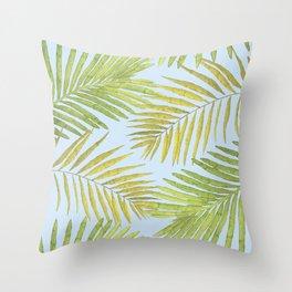 Palms Against the Sky Throw Pillow