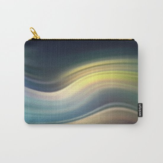Moonlight Sonata. Abstract modern wavy flowing silk, satin, smooth Carry-All Pouch