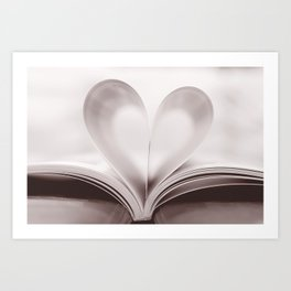 pages of love Art Print