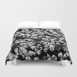 Black and White Barnacles Duvet Cover