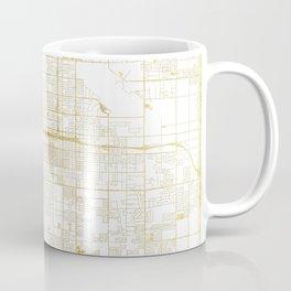 Fresno Map Gold Coffee Mug