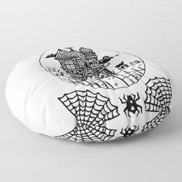 Ominous Victorian House Floor Pillow