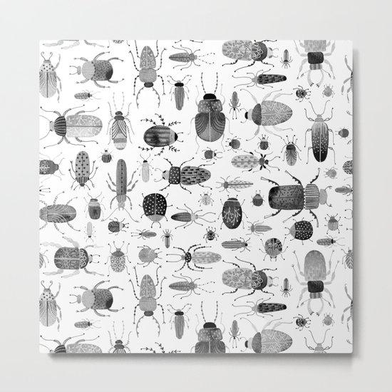 Ink Beetles Metal Print