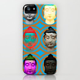 Buddha Heads iPhone Case