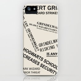 1926 Wizard Newspaper Headlines - Grindelwald iPhone Case