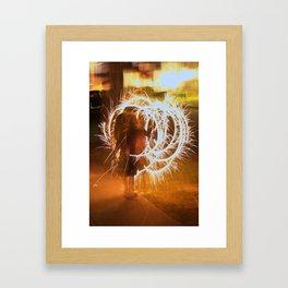 Firework Circle Framed Art Print