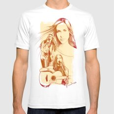 Alanis Morissette - Série Ouro White MEDIUM Mens Fitted Tee