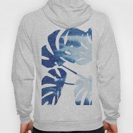 Navy Blue Tropical Leaf Hoody