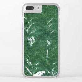 Dark green Clear iPhone Case