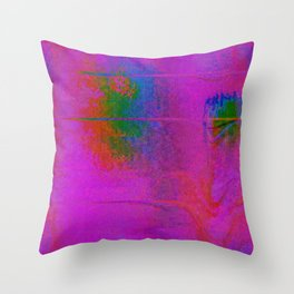 11-23-56 (Moving Circles Glitch) Throw Pillow