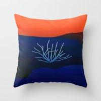 desert Throw Pillows featuring Desert by lillianhibiscus