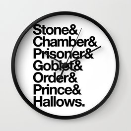 Stone & Chamber & Prisoner & Goblet & Order & Prince & Hallows Wall Clock
