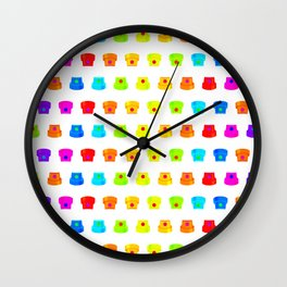 Spray caps Wall Clock