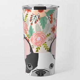 French Bulldog  floral dog head cute frenchies must have pure breed dog gifts Travel Mug