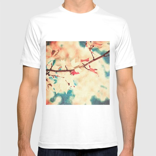 Autumn (Leafs in a textured and abstract sky) T-shirt
