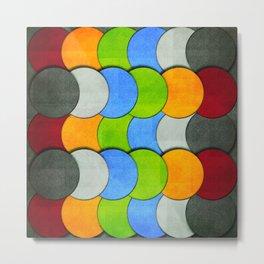 Overlapping Circles-Textured  Metal Print