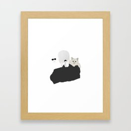 Karl Lagerfeld and Choupette Framed Art Print