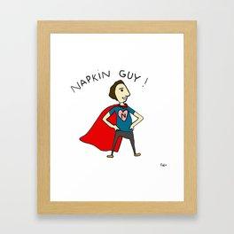 Napkin Guy! Framed Art Print
