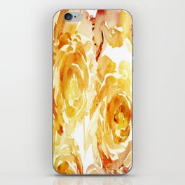 Sunny Day Painterly Floral Abstract iPhone Skin