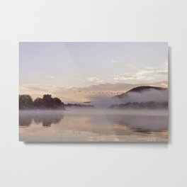 Into the Mists of Dawn: Sunrise on Lake George Metal Print