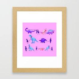 Walking the Dinosaurs Framed Art Print