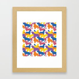 Dog Pattern 2 Framed Art Print