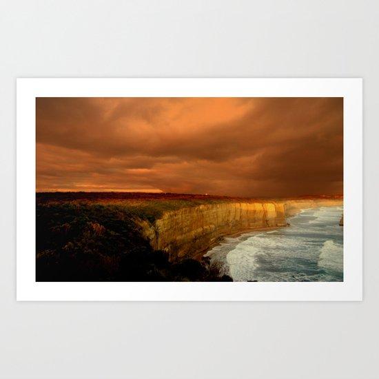 Reflections of a Setting Sun Art Print