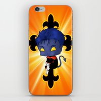 nightcrawler iPhone & iPod Skins featuring Chibi Nightcrawler by artwaste