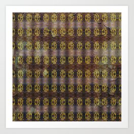 Brass Knuckles Pattern Art Print