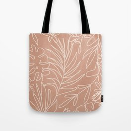 Engraved Tropical Line Tote Bag