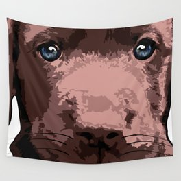 Hot chocolate labrador puppy Wall Tapestry