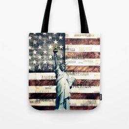 Vintage Patriotic American Liberty Tote Bag