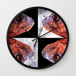 Dead Fish Face Abstract Four Mummy Wall Clock
