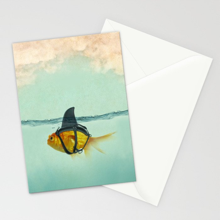 Brilliant DISGUISE - Goldfish with a Shark Fin Stationery Cards