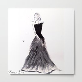 Fashion Illustration Metal Print
