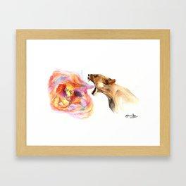 Lioness' Fury Framed Art Print