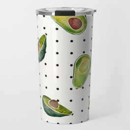 Avocado Polka Dots Travel Mug