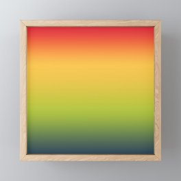Abstract Colorful Tropical Blurred Gradient Framed Mini Art Print