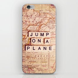 jump on a plane iPhone Skin