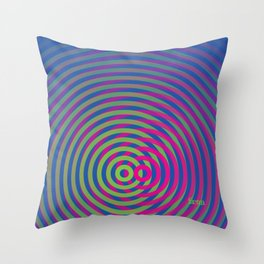 SoundWaves Lime/Magenta Throw Pillow