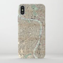 Vintage Map of London England (1862) iPhone Case