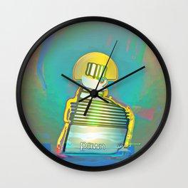 PAWN / White / Chess Wall Clock