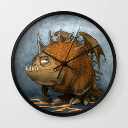 Marshmellow the Dragon Wall Clock