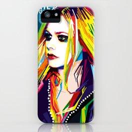 WPAP Avril Lavigne iPhone Case